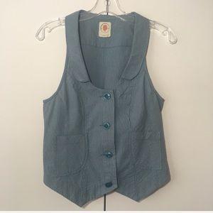 Anthropologie Tulle Vintage Vest
